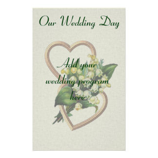 Lily of the Valley Wedding Program Stationery