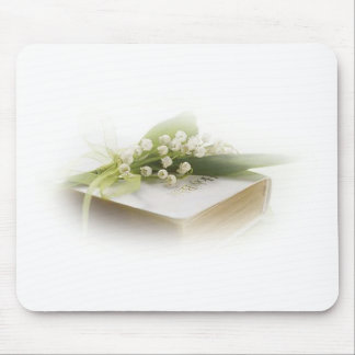lily of the valley with bible mousepad