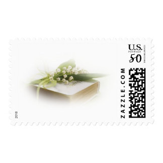 lily of the valley with bible postage