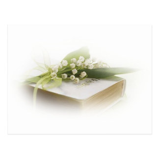 lily of the valley with bible postcard