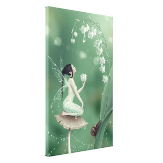 Lily of the Valley Wrapped Canvas Print