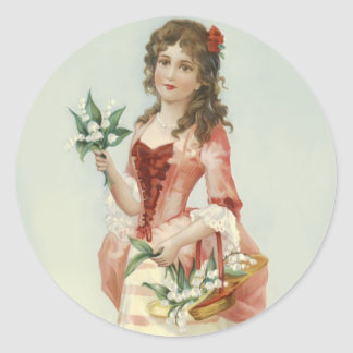 Lily of the Vally Maiden Classic Round Sticker