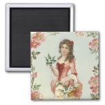 Lily of the Vally Maiden Fridge Magnet