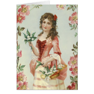 Lily of the Vally Maiden Greeting Card