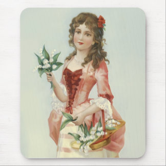 Lily of the Vally Maiden Mouse Pads