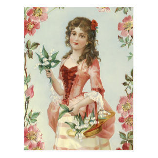 Lily of the Vally Maiden Postcard