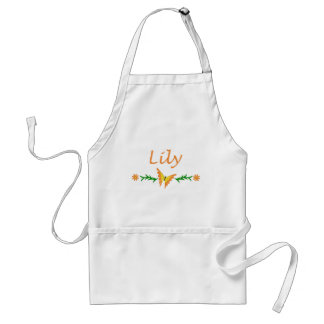 Lily Orange Butterfly Aprons