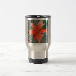 Lily Orange Spots Travel Mug