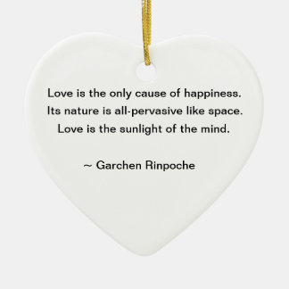 Lily Ornament with Buddhist Quote