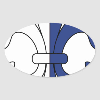 Lily Oval Sticker