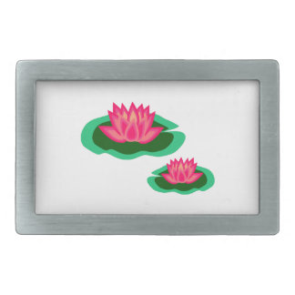 Lily Pad Rectangular Belt Buckle