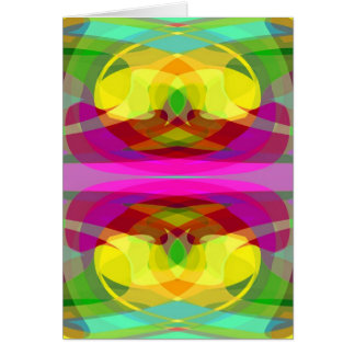 Lily Pad Colorful Abstract Gifts for All Occasions Card