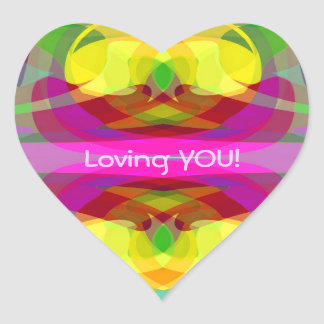Lily Pad Colorful Abstract Gifts for All Occasions Heart Sticker