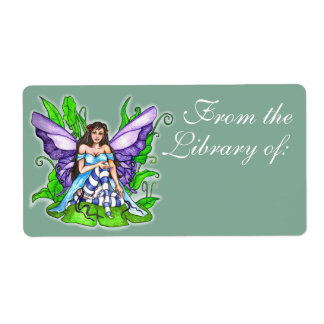 Lily Pad Fairy Book Label