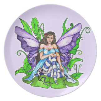 Lily Pad Fairy Dinner Plate
