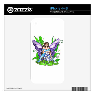 Lily Pad Fairy iPhone 4S Skins
