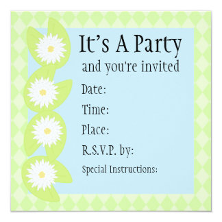 Lily Pad Invitation