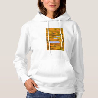 Lily pad on orange water, Canada Hoodie
