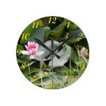 Lily Pad Round Wall Clocks
