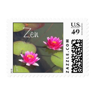 Lily Pads and Lotus Zen Postage