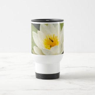Lily Pads and White Lotus Flower Travel Mug