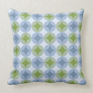 Lily Pads (Blue & Green Stars) Throw Pillow