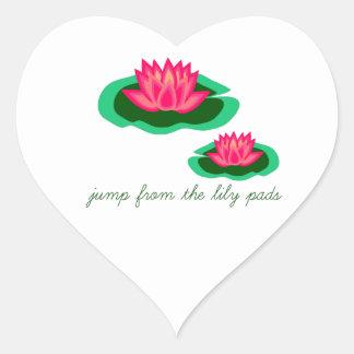 Lily Pads Heart Sticker