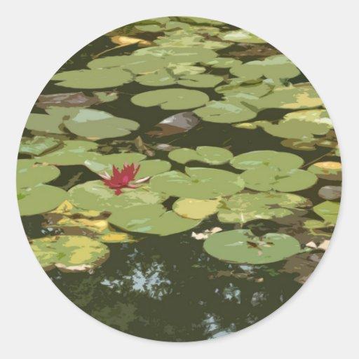 Lily pads Impressionism Art Classic Round Sticker
