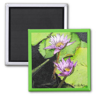 Lily Pads Ink Drawing Magnet