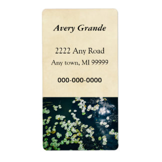 Lily Pads Label