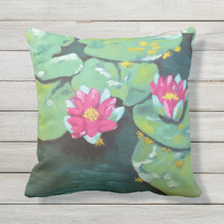 """Lily Pads"" Outdoor Pillow"