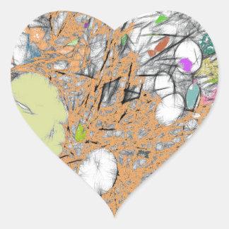 Lily Pads (Peach) Heart Sticker