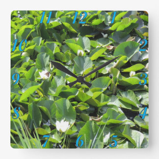 Lily Pads Square Wall Clock
