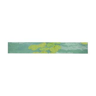Lily Pads Wrap Around Address Label
