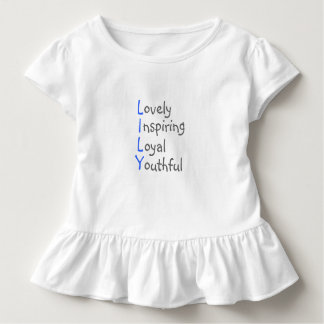 Lily - Personalized Blue Acrostic with Virtues Toddler T-shirt
