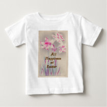 Lily Pink Purple Easter Baby T-Shirt
