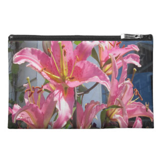 Lily Plant Outdoor Pink Travel Accessory Bags