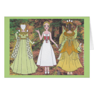 Lily Plays a Woodland Elf and Fairy Greeting Card
