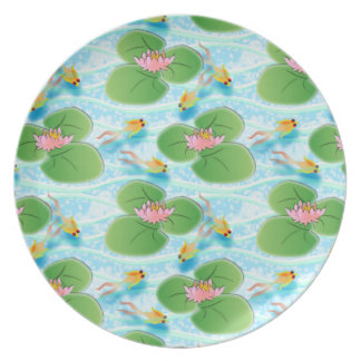 Lily pond and Goldfish Plate
