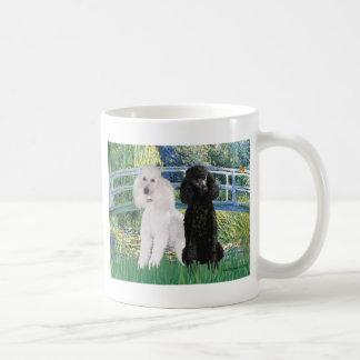 Lily Pond Bridge - 2 Standard Poodles Coffee Mug