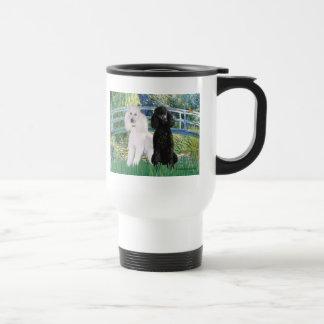 Lily Pond Bridge - 2 Standard Poodles Travel Mug