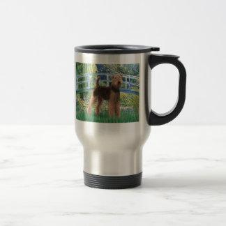 Lily Pond Bridge - Airedale (#6) 15 Oz Stainless Steel Travel Mug