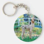 Lily Pond Bridge - Baby Llama Basic Round Button Keychain
