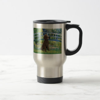 Lily Pond Bridge-Chocolate St Poodle Travel Mug