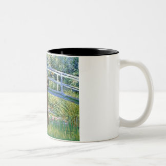 Lily Pond Bridge-Chocolate St Poodle Two-Tone Coffee Mug
