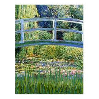 Lily Pond Bridge - insert your pet Postcard
