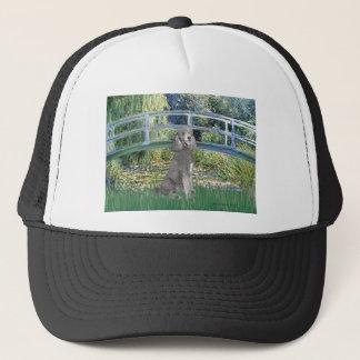 Lily Pond Bridge-Silver St. Poodle Trucker Hat