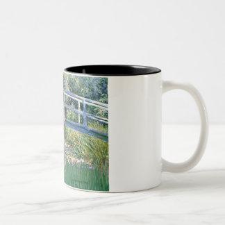 Lily Pond Bridge-Silver St. Poodle Two-Tone Coffee Mug