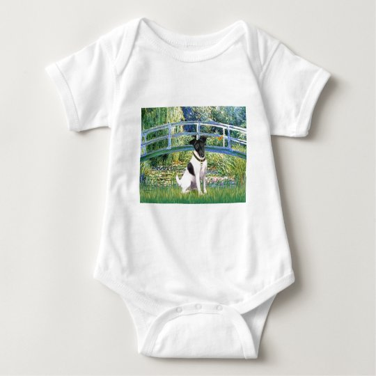 Lily Pond Bridge - Smooth Fox Terrier Baby Bodysuit