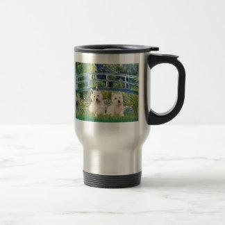 Lily Pond Bridge - Westies (two) 15 Oz Stainless Steel Travel Mug